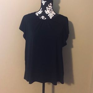 Short sleeve, black, blouse from H&M with tags
